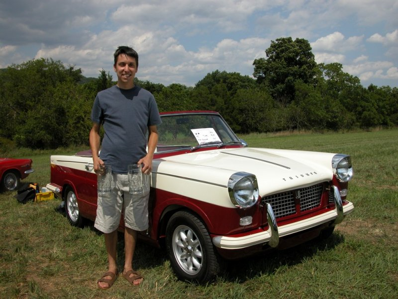 Mike Hoinowski wins First in Class and Ladies Choice with his 1962 Triumph Herald