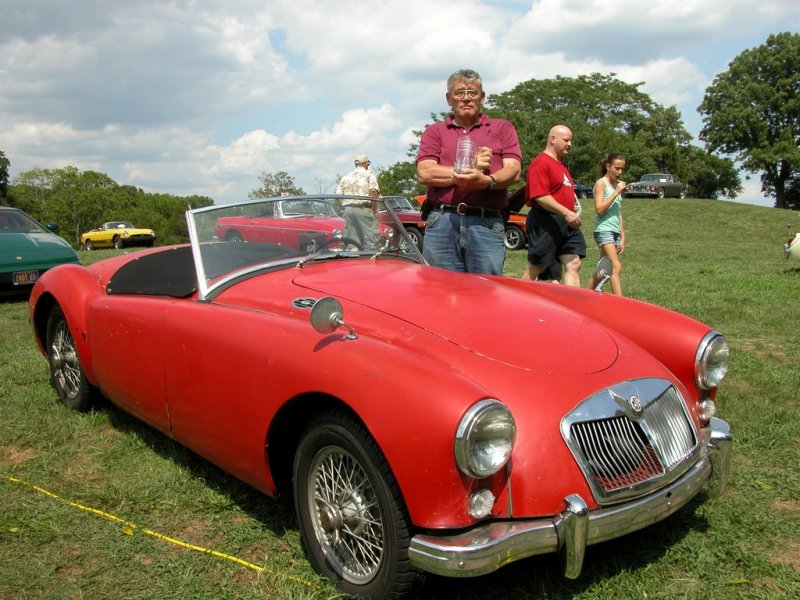 Diamond in the Rough winner Lee Wesner with his 1956 MGA