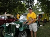 Bruce Allen with his Second in Class and his Best in Show Award for his rare 1939 MGTB